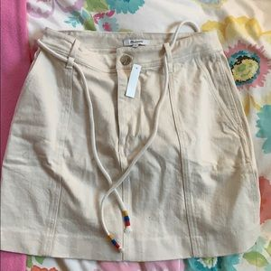 NWT Madewell Canvas Skirt with Rope Tie